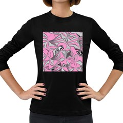 Foolish Movements Pink Effect Jpg Womens' Long Sleeve T-shirt (Dark Colored)