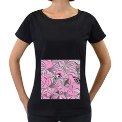 Foolish Movements Pink Effect Jpg Womens' Maternity T Shirt (black)