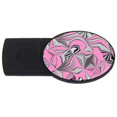 Foolish Movements Pink Effect Jpg 4GB USB Flash Drive (Oval)