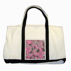 Foolish Movements Pink Effect Jpg Two Toned Tote Bag