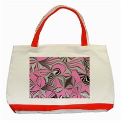 Foolish Movements Pink Effect Jpg Classic Tote Bag (Red)