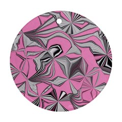 Foolish Movements Pink Effect Jpg Round Ornament (Two Sides)