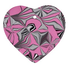 Foolish Movements Pink Effect Jpg Heart Ornament (Two Sides)