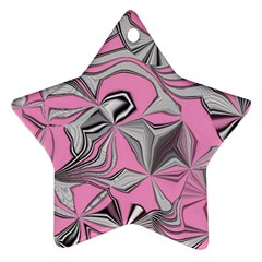 Foolish Movements Pink Effect Jpg Star Ornament (two Sides)
