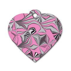 Foolish Movements Pink Effect Jpg Dog Tag Heart (Two Sided)