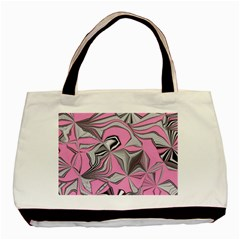 Foolish Movements Pink Effect Jpg Twin Sided Black Tote Bag