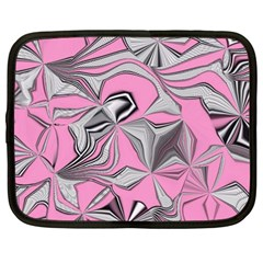 Foolish Movements Pink Effect Jpg Netbook Case (Large)