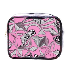 Foolish Movements Pink Effect Jpg Mini Travel Toiletry Bag (One Side)