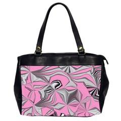 Foolish Movements Pink Effect Jpg Oversize Office Handbag (Two Sides)