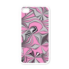 Foolish Movements Pink Effect Jpg Apple iPhone 4 Case (White)