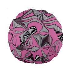 Foolish Movements Pink Effect Jpg 15  Premium Round Cushion