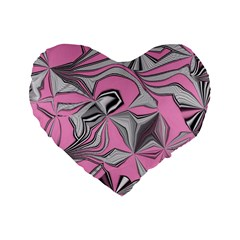 Foolish Movements Pink Effect Jpg 16  Premium Heart Shape Cushion