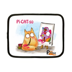 Pookiecat   Picatso  Netbook Case (small)
