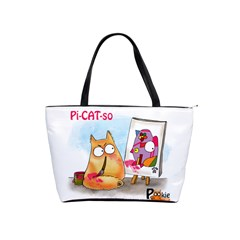Pookiecat   Picatso  Large Shoulder Bag