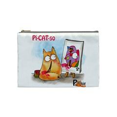 PookieCat - Picatso  Cosmetic Bag (Medium)