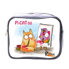 Pookiecat   Picatso  Mini Travel Toiletry Bag (one Side)