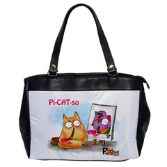 PookieCat - Picatso  Oversize Office Handbag (One Side)