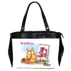 PookieCat - Picatso  Oversize Office Handbag (Two Sides)