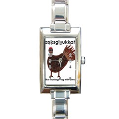 Turkey Rectangular Italian Charm Watch