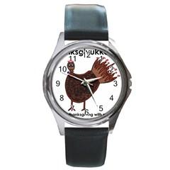 Turkey Round Metal Watch (silver Rim)