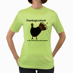 Turkey Womens  T-shirt (Green)