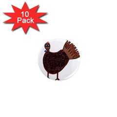 Turkey 1  Mini Button Magnet (10 pack)