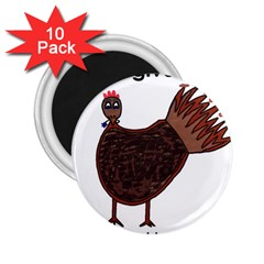 Turkey 2.25  Button Magnet (10 pack)
