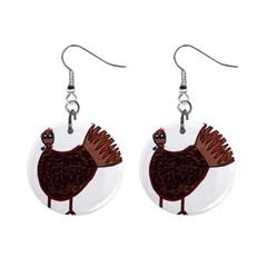 Turkey Mini Button Earrings