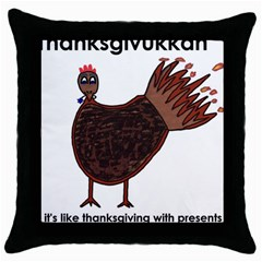 Turkey Black Throw Pillow Case