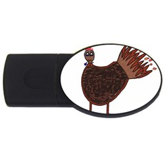 Turkey 2GB USB Flash Drive (Oval)