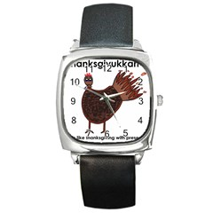 Turkey Square Leather Watch