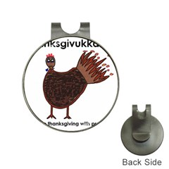 Turkey Hat Clip With Golf Ball Marker