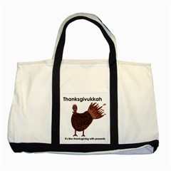 Turkey Two Toned Tote Bag
