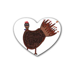 Turkey Drink Coasters 4 Pack (Heart)