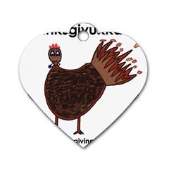 Turkey Dog Tag Heart (one Sided)