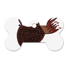 Turkey Dog Tag Bone (One Sided)
