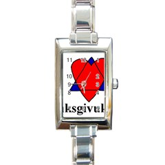 Heartstar Rectangular Italian Charm Watch