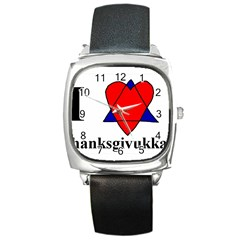 Heartstar Square Leather Watch