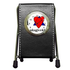 Heartstar Stationery Holder Clock