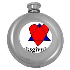 Heartstar Hip Flask (Round)
