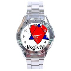 Heartstar Stainless Steel Watch (Men s)