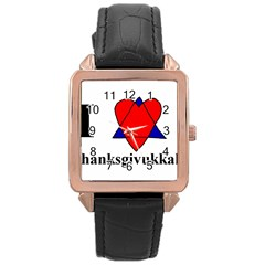 Heartstar Rose Gold Leather Watch