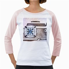 Kodak (7)d Womens  Long Sleeve Raglan T-shirt (White)