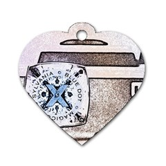 Kodak (7)d Dog Tag Heart (two Sided)