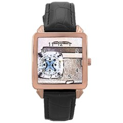 Kodak (7)d Rose Gold Leather Watch