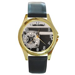 Kodak (7)s Round Metal Watch (gold Rim)