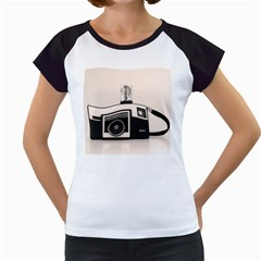 Kodak (3)s Women s Cap Sleeve T-Shirt (White)