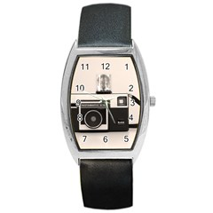 Kodak (3)s Tonneau Leather Watch