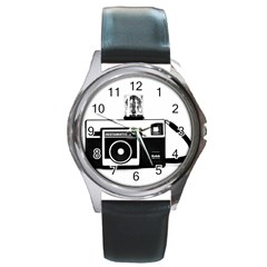 Kodak (3)cb Round Metal Watch (silver Rim)