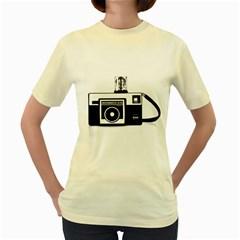 Kodak (3)cb  Womens  T-shirt (Yellow)